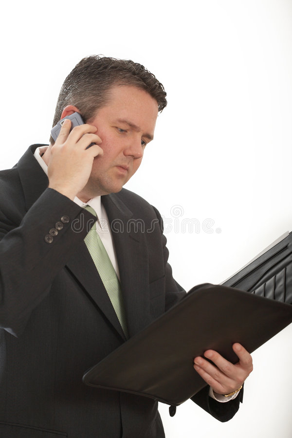 Businessman working royalty free stock image