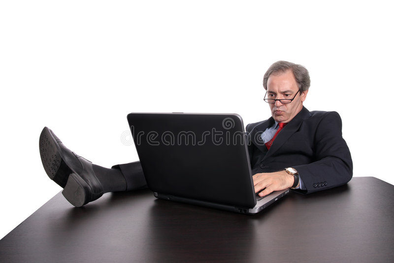 Businessman working royalty free stock photography