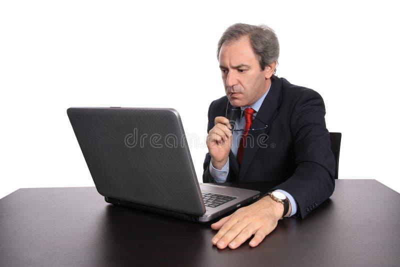 Businessman working royalty free stock photo