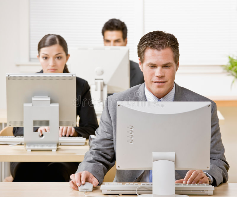 Download Businessman Working On Computer Stock Photo - Image: 6600980