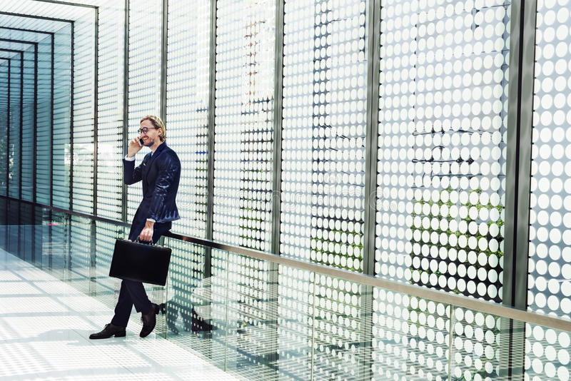Businessman Working Connecting Smart Phone Concept royalty free stock image
