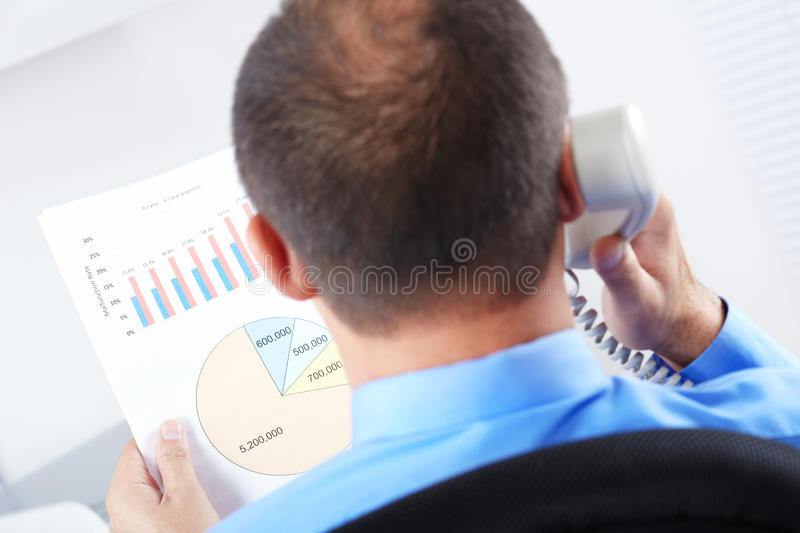 Download Businessman Working With Documents Stock Photo - Image: 26611882