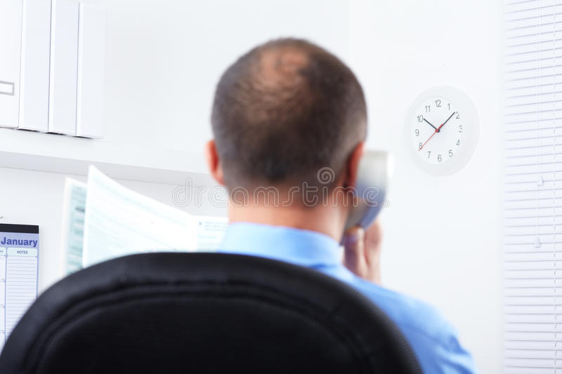 Businessman Working With Documents Royalty Free Stock Photos
