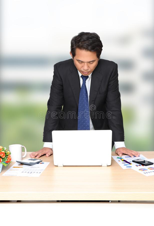 Man working business royalty free stock photography