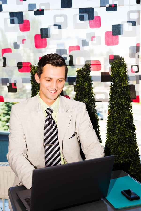 Download Businessman Working On His Laptop Stock Image - Image: 32164511