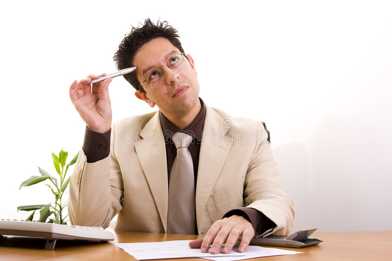 Download Businessman Working At His Office Stock Photo - Image: 9130504