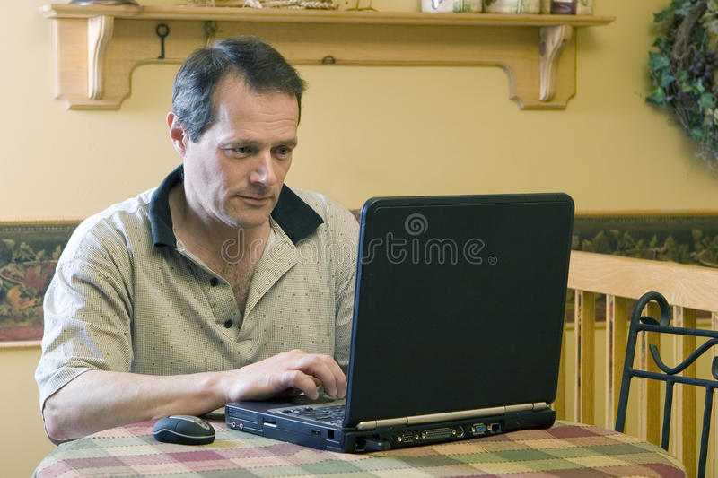 Businessman working from home royalty free stock images