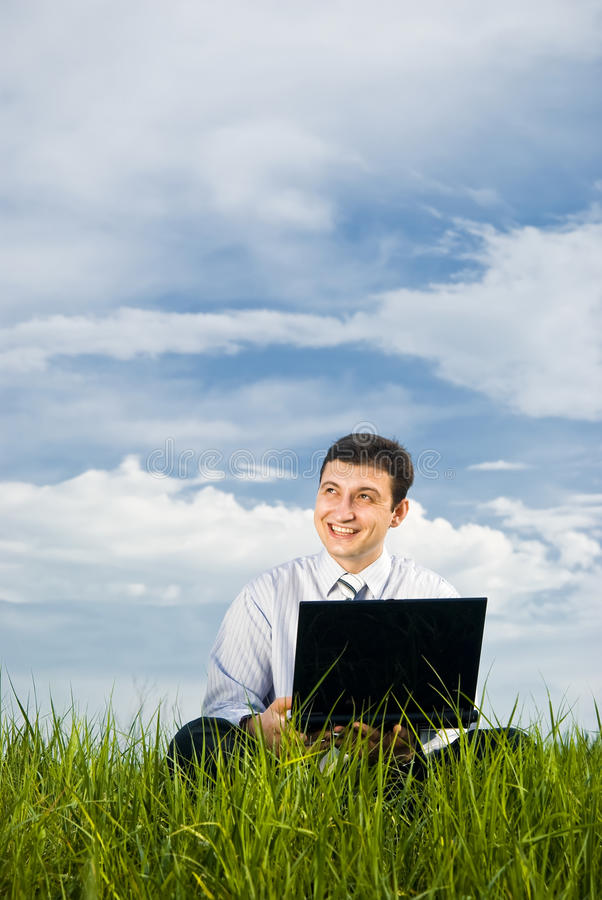 Download Businessman Working With Laptop Stock Image - Image: 14501727