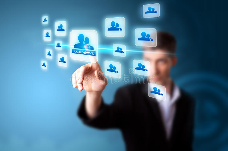 Download A Businessman Working On Modern Technology Stock Photo - Image: 20489272