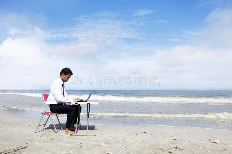 Businessman Working Seriously Royalty Free Stock Photos