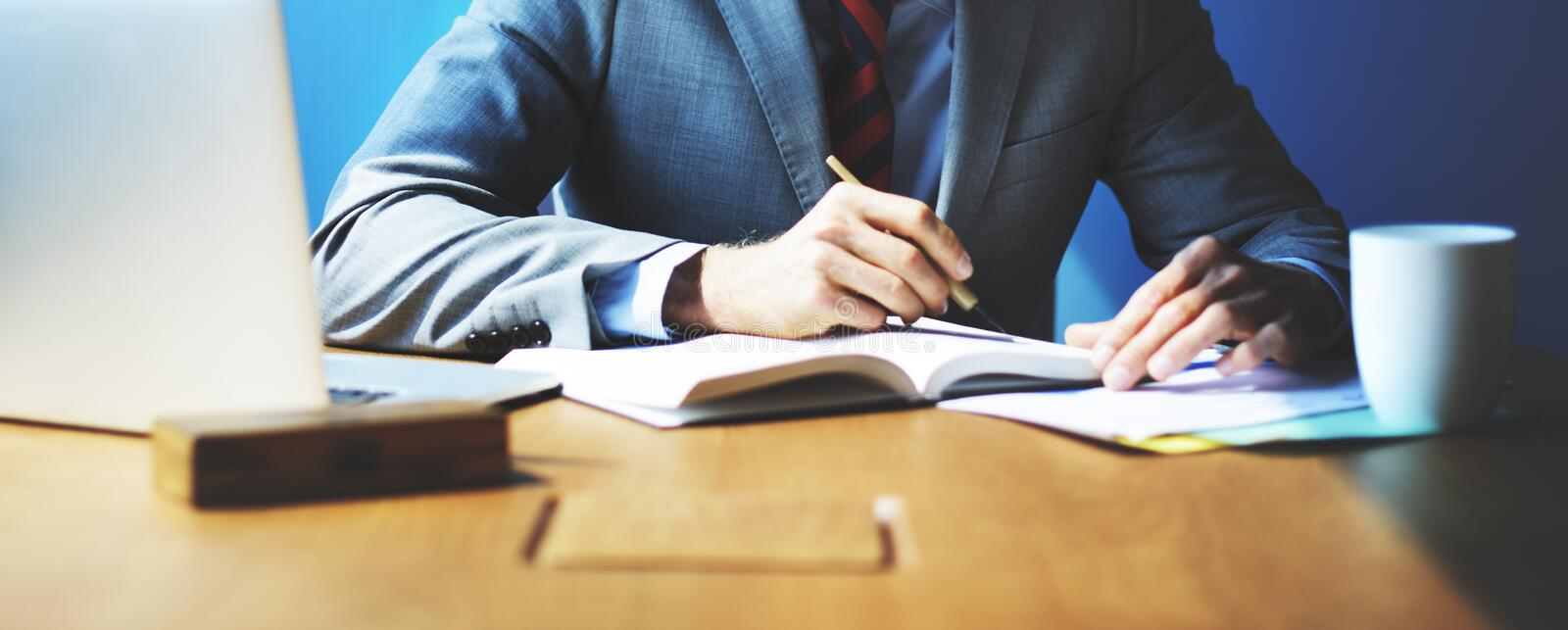Businessman Working Strategy Business Concept stock photos