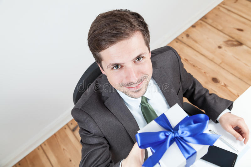 Businessman working with tablet royalty free stock photos