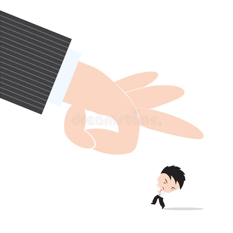 Free Businessman, Worry And Fear Hand Of Boss Kicked Or Strum, Abstract Of Business Recruitment Concept Royalty Free Stock Photo - 63762475