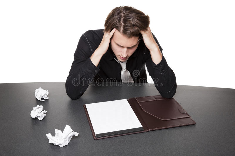 Businessman - writers block royalty free stock photography