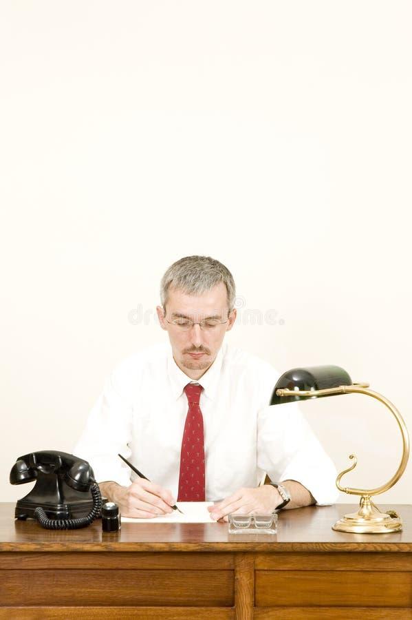 Download Businessman writing stock image. Image of museum, businessman - 10030093