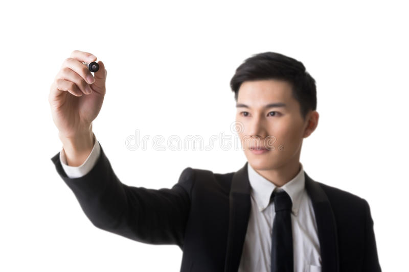 Businessman writing royalty free stock photography