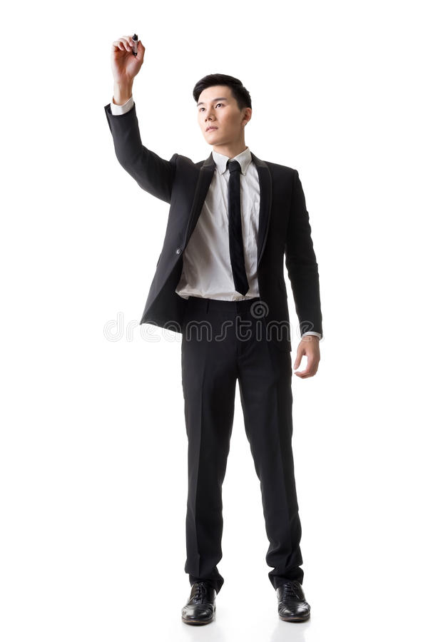 Businessman writing royalty free stock photos