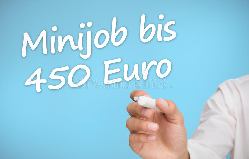 Download Businessman Writing With A Marker Minijob Bis 450 Euro Stock Illustration - Image: 31556515