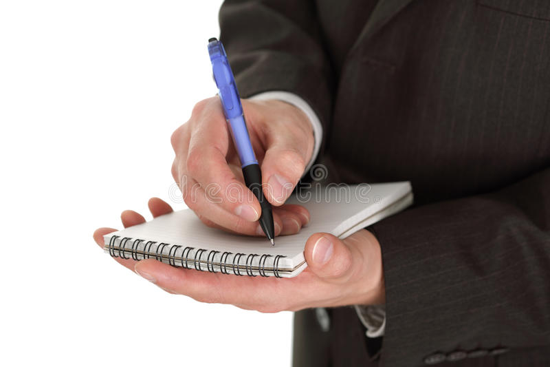 Download Businessman writing notes stock photo. Image of photography - 11934540
