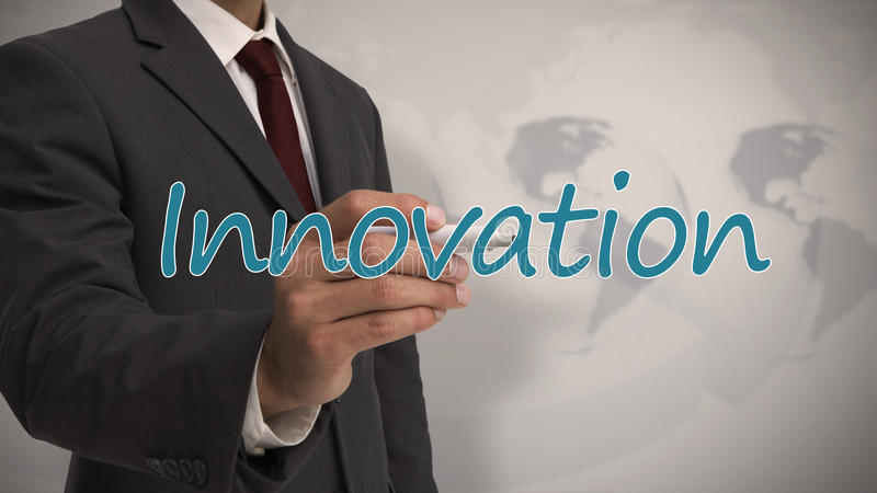 Download Businessman Writing The Word Innovation Stock Image - Image: 31448629