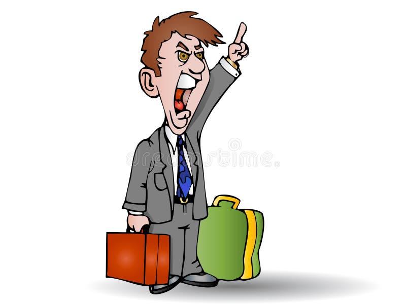 Download Businessman yell stock illustration. Image of cartoon - 15045915