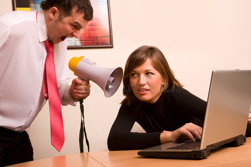 Download Businessman Yelling On His Associate At Office Stock Photo - Image: 4421934