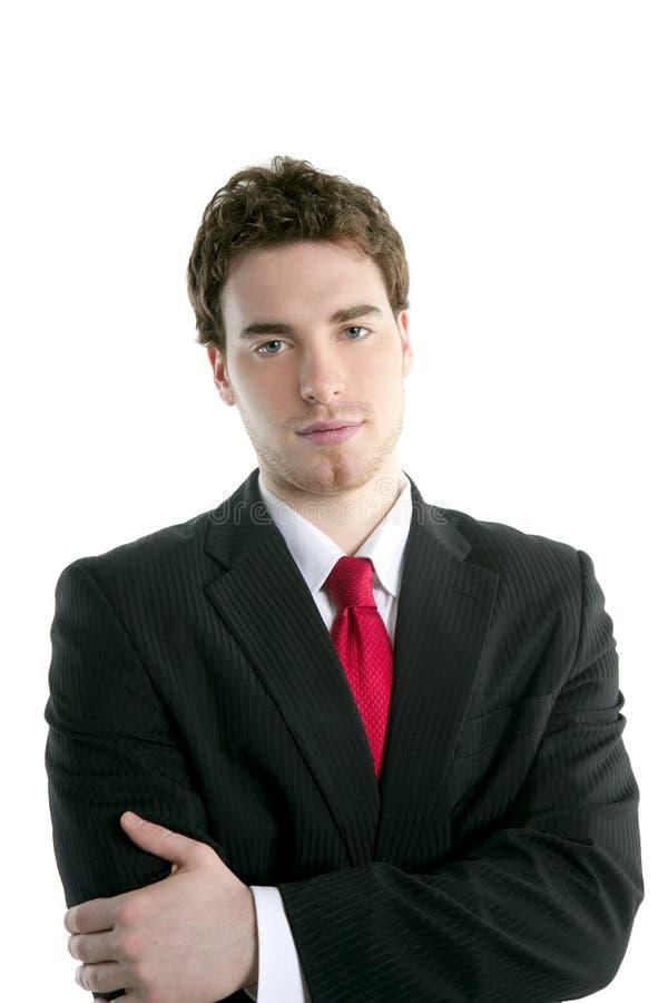 Businessman young handsome portrait tie suit stock image