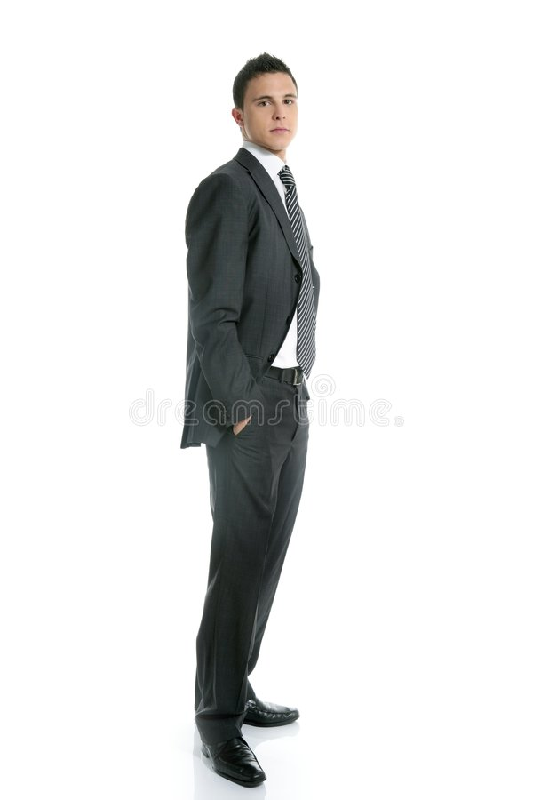 Download Businessman Young Stand Up, Full Length On White Stock Image - Image: 8683569