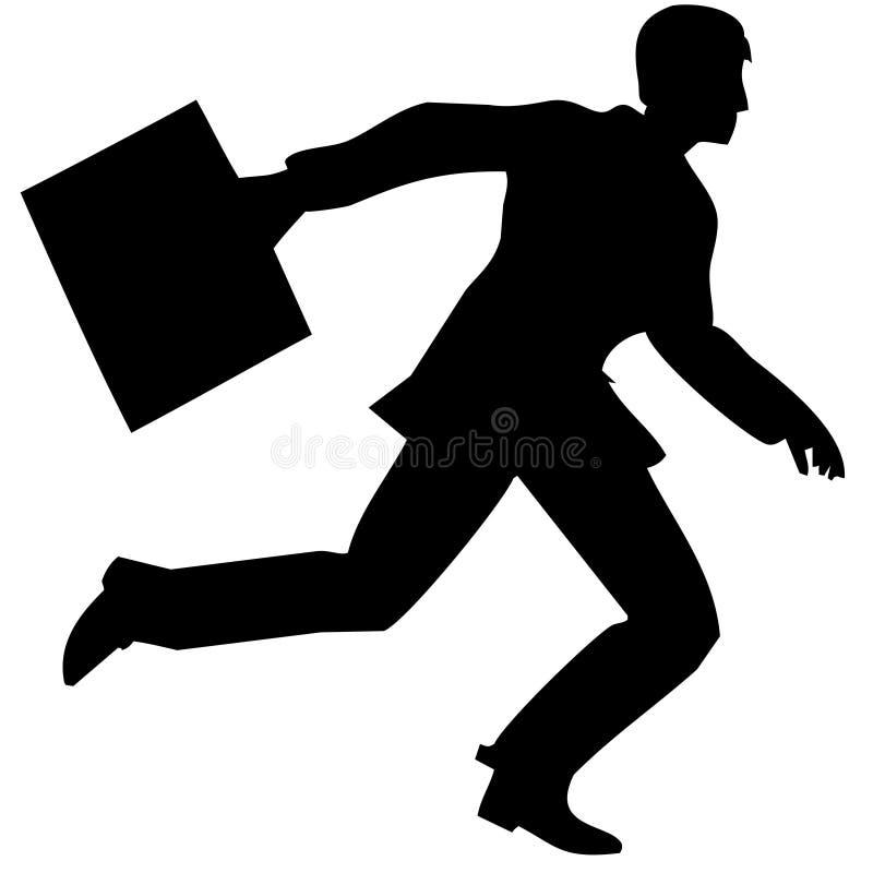 BusinessManRuns-vettore illustrazione di stock