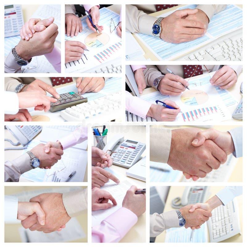 Businessmans fonctionnant dans le bureau image stock