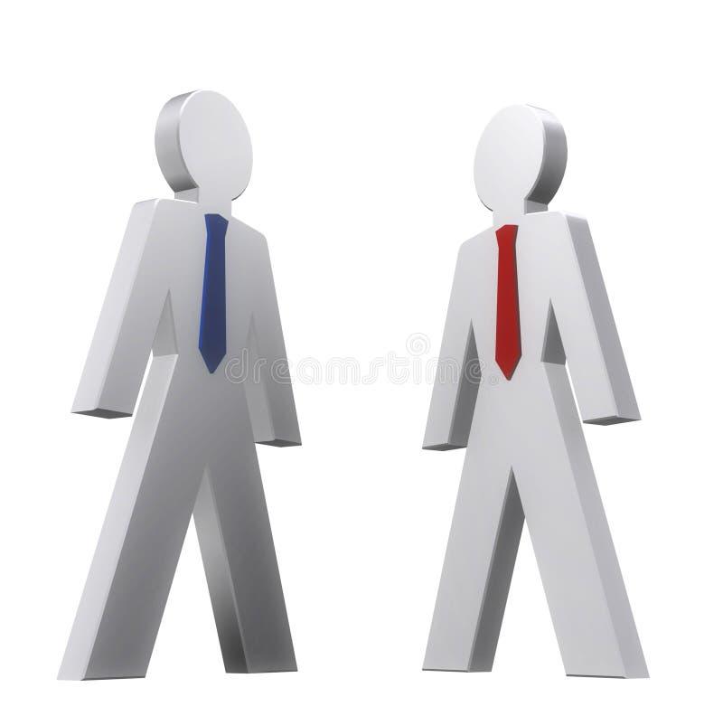 businessmen stock illustration