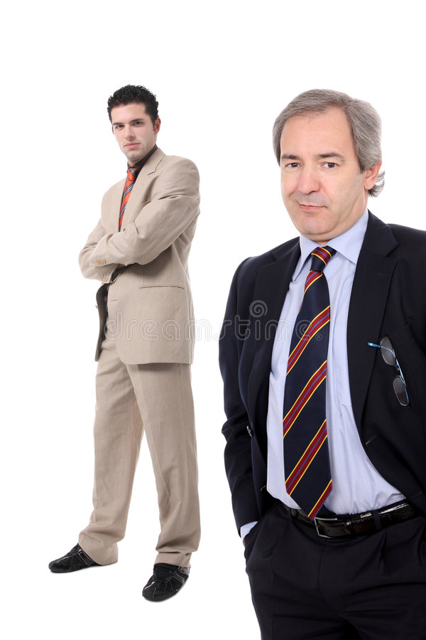 Businessmen. Portrait isolated on white background stock images