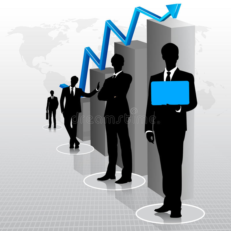 Download Businessmen with Bar Graph stock vector. Image of business - 30738764