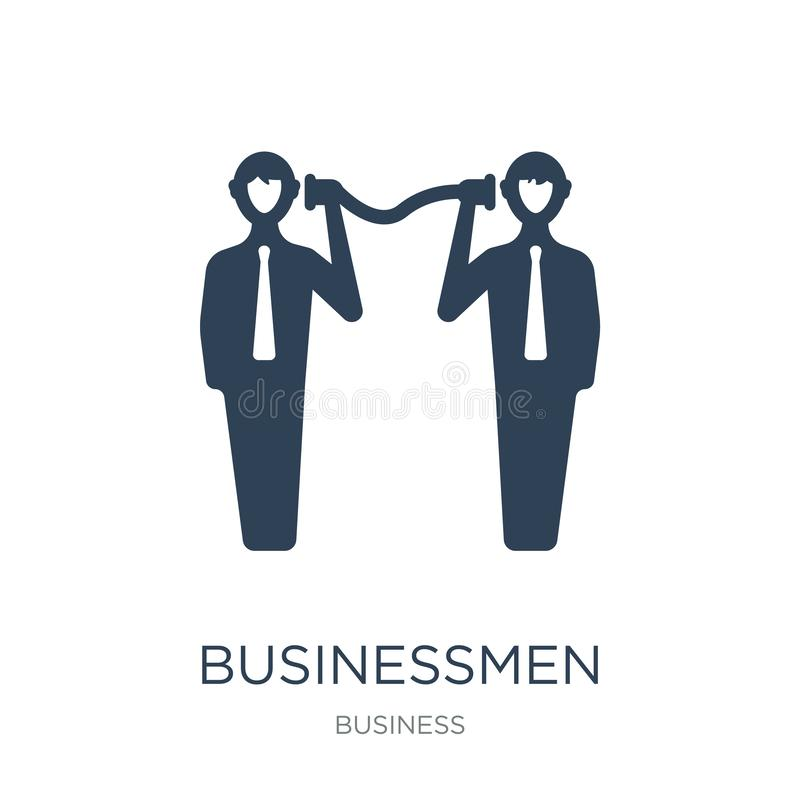businessmen business communication techniques icon in trendy design style. businessmen business communication techniques icon vector illustration