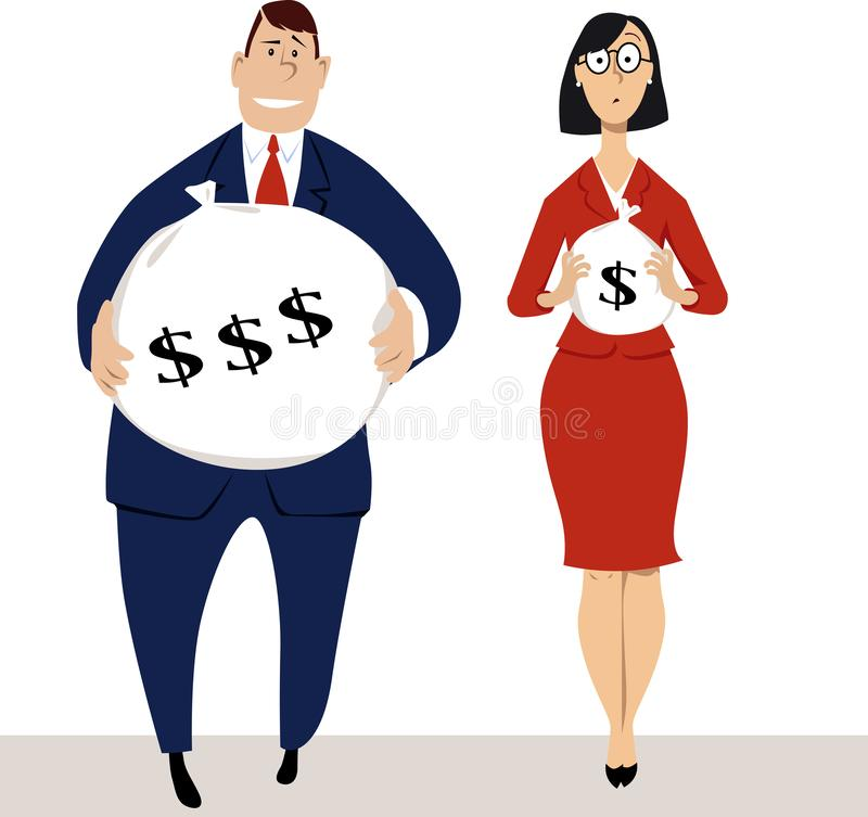 Compensation difference royalty free illustration