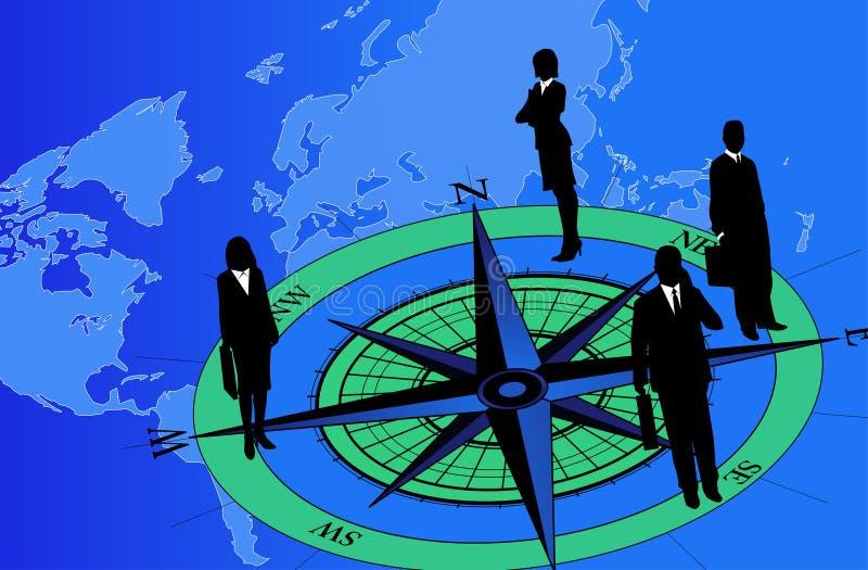 Download Businessmen on Compass stock vector. Image of adventure - 8674136