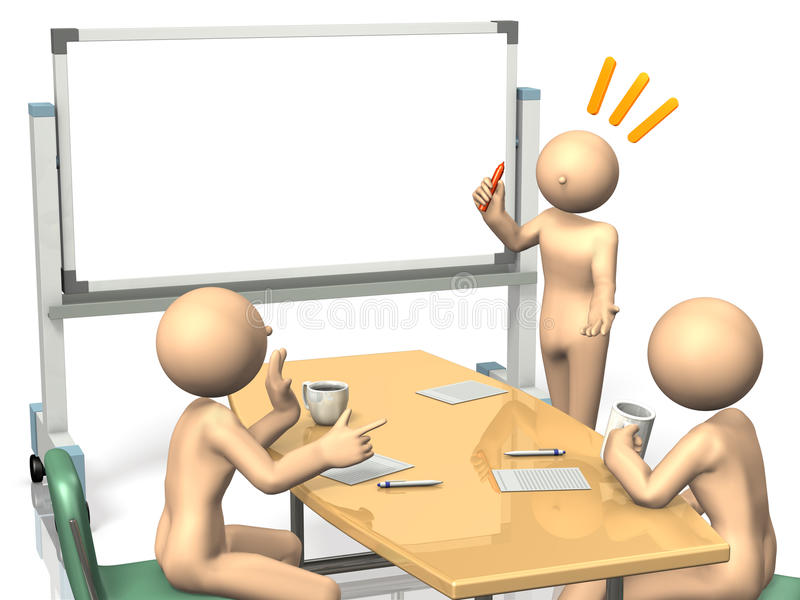 Download Businessmen Are Eager To Brainstorm Ideas. Stock Illustration - Image: 28149543
