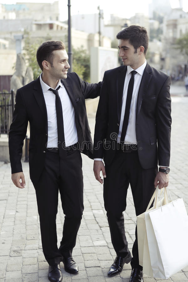 Businessmen friends stock photo