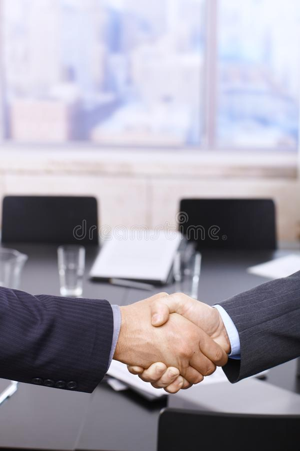 Download Businessmen Handshake Over Table Stock Photo - Image: 13183642