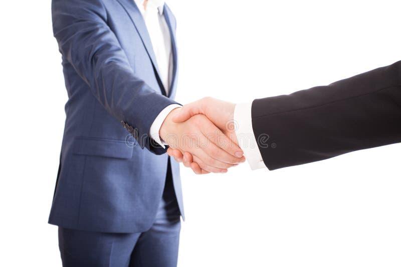 businessmen handshake two royaltyfria foton