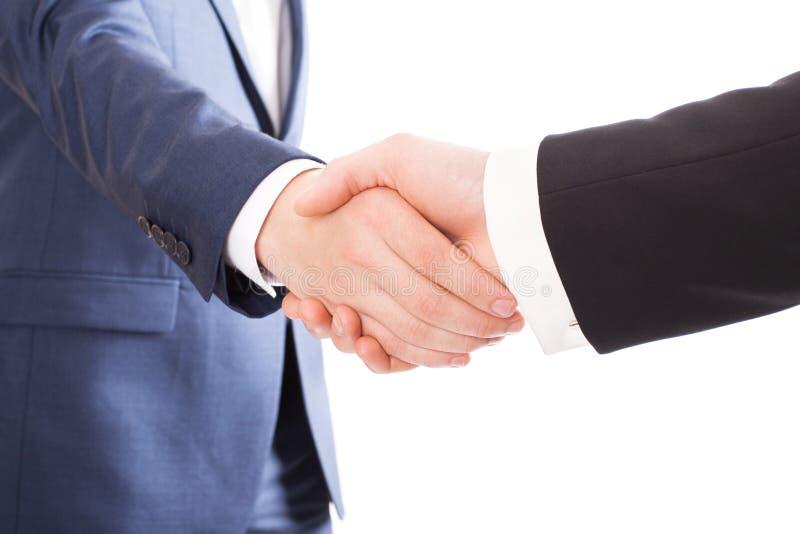 businessmen handshake two royaltyfri foto