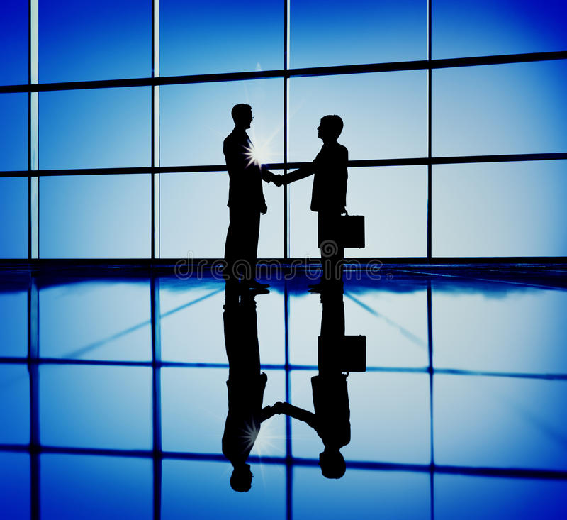Businessmen Handshaking Contract Corporate Business Concept stock image