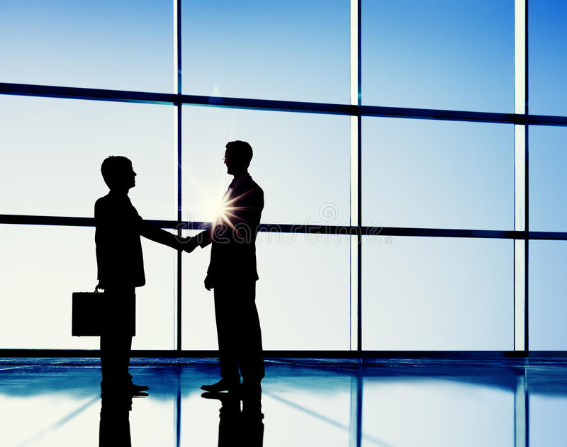 Businessmen Handshaking Contract Corporate Business Concept royalty free stock photography