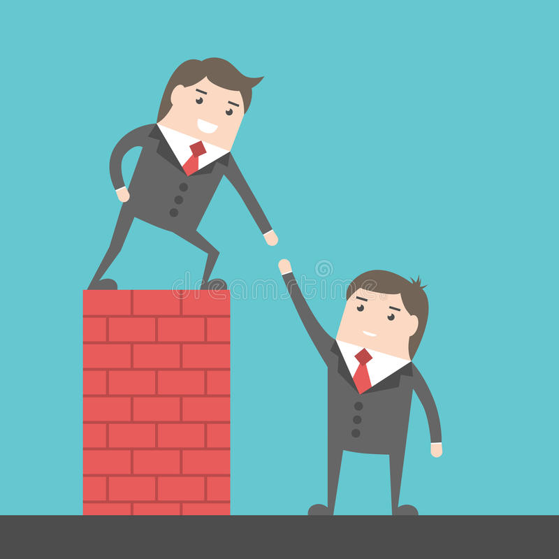 Helping Each Other: Businessmen Helping Each Other Stock Vector