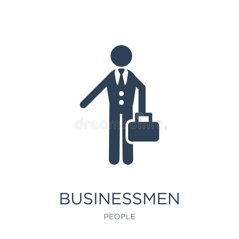 Businessmen icon in trendy design style. businessmen icon isolated on white background. businessmen vector icon simple and modern. Flat symbol for web site stock illustration