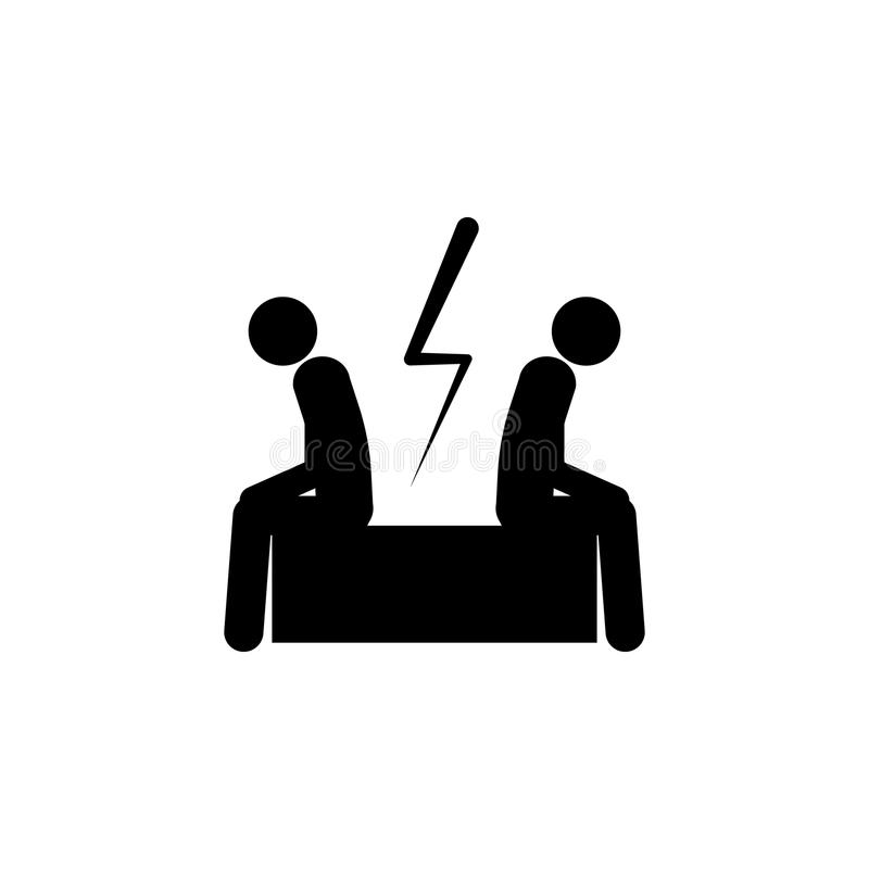 Businessmen Ignore Each Other Illustration Element Of Conflict Icon