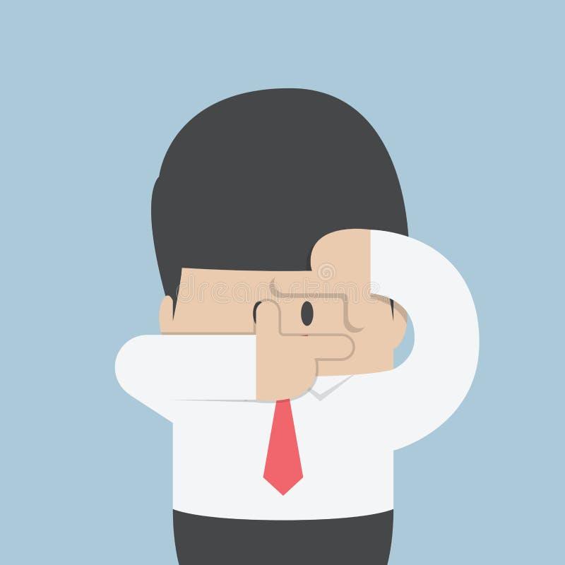 Businessmen making a hand frame royalty free illustration