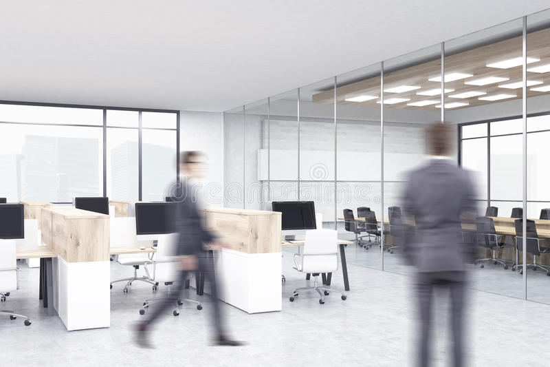 Businessmen in office interior stock photos
