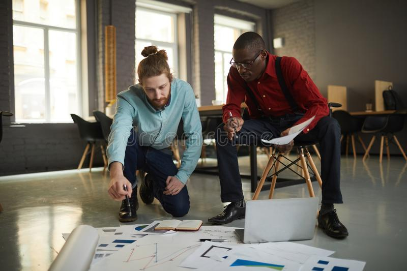 Businessmen Planning Project stock image