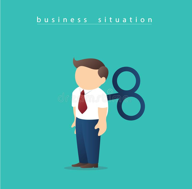 Businessmen robot, Businessmen with wind-up key illustration vector vector illustration